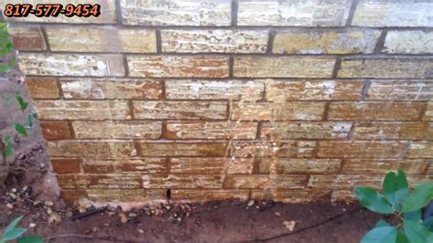 removing red clay stains  bricks dallas fort worth tx    youtube
