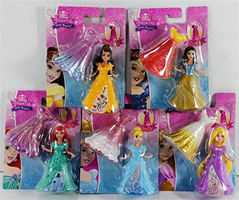 disney princess kingdom magiclip doll set of 5 snow white ariel rapunzel