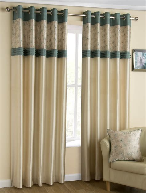 grace embroidered faux silk lined eyelet curtains floral