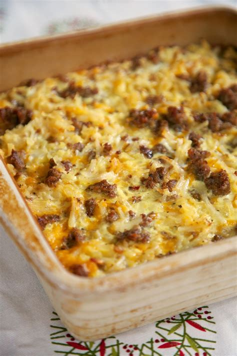 breakfast casserole with breakfast casserole with sausage and hash browns