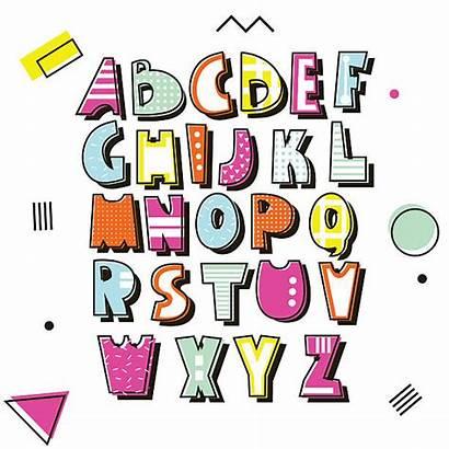 1990s Clip Illustrations Alphabet Retro Similar