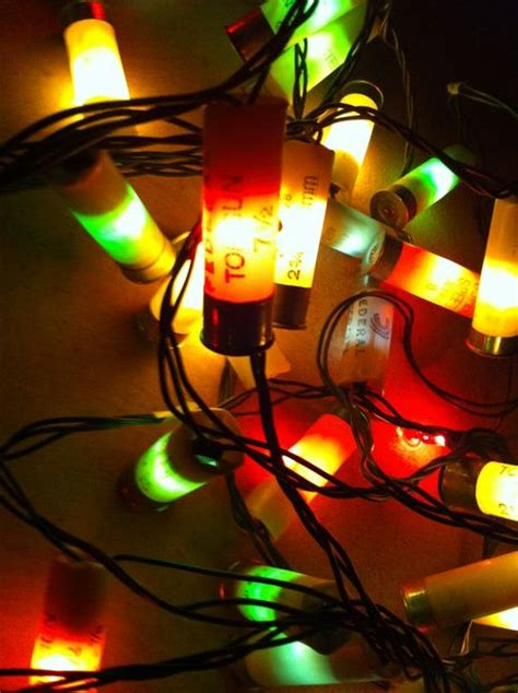 shotgun shell lights decorations made of spent shotshells the