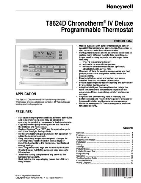 Honeywell Chronotherm Wiring Diagram