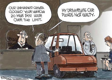 Driverless Car Cartoons And Comics