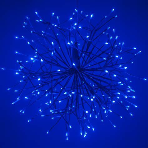 blue starburst lighted branches  blue cool white led