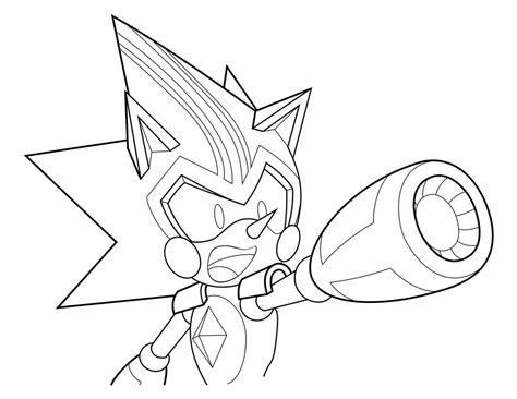 Kleurplaat Metal Sonic by Coloring Page 6 Shard The Metal Sonic By Xaolin26 On
