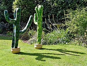 Easy DIY Giant Paper Mache Cactus - Pillar Box Blue