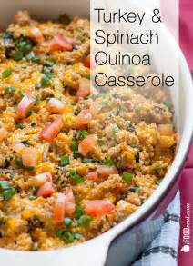 ground turkey quinoa casserole with spinach ifoodreal