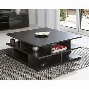 Table Basse Noire Design : symbiosis table basse multicases noir table basse symbiosis sur maginea ~ Teatrodelosmanantiales.com Idées de Décoration