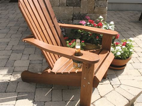 outdoor interiors adirondack chair w built in ottoman