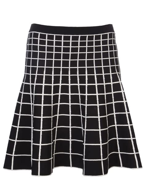ohne titel grid pattern skirt  black lyst
