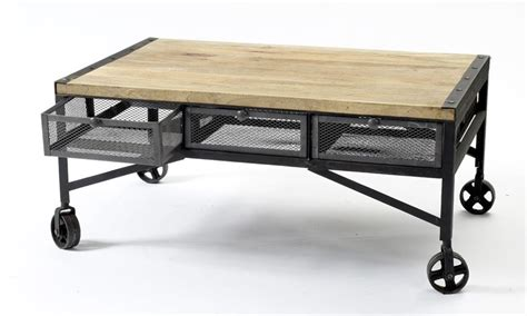 Tribeca Industrial Mesh Drawer Caster Wheel Coffee Table American Home Furniture Store In India Office San Diego Sa About Model Houston Angelo Second Hand