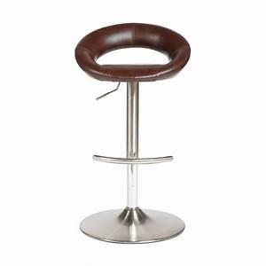 Tabouret De Bar Marron : tabouret de bar sasha luxe marron ~ Melissatoandfro.com Idées de Décoration