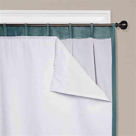 Blackout Drape Liner - buy smartblock 60 inch rod pocket insulating room