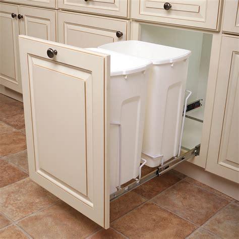 kitchen island electrical outlet shop knape vogt 35 quart plastic pull out trash can at