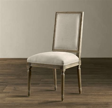 vintage square upholstered side chair traditional