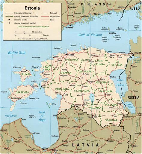 Mapa Estonia