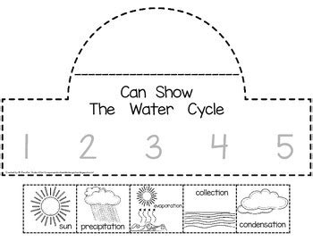 water cycle sequencing crowns by tpt