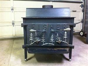 Vintage bicentennial grandpa bear fisher wood stove wood for Fisher wood stove