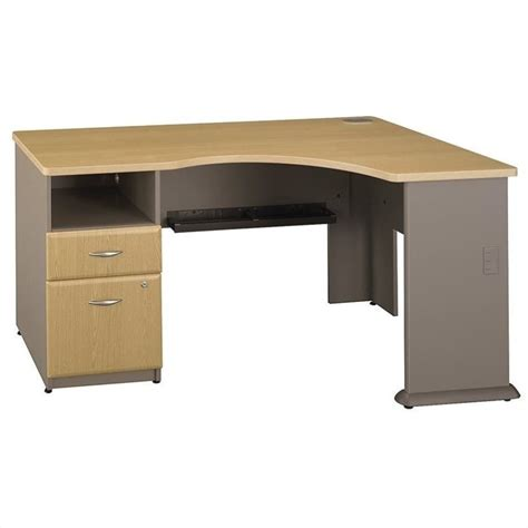 light oak computer desk bush business series a corner desk in light oak wc64328pa