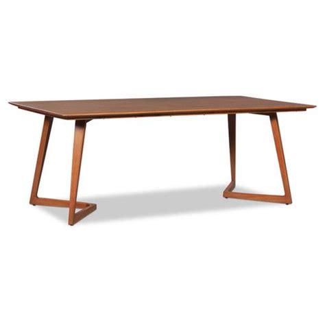 raki modern danish large angle rectangle dining table
