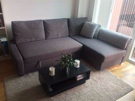 selling sofa bed  storage ikea friheten dark grey