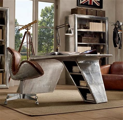 Restoration Hardware Aviator Desk Chair by 23 Amazingly Cool Home Office Designs Page 5 Of 5