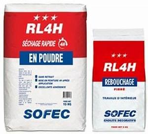 Temps De Sechage Enduit : rl4h enduit rebouchage s chage rapide sofec ~ Dailycaller-alerts.com Idées de Décoration