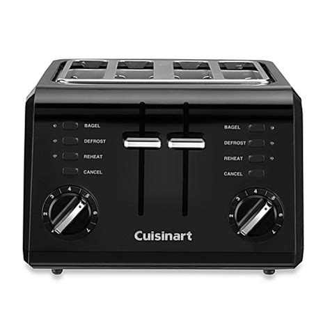 toaster bed bath and beyond cuisinart 174 black compact cool touch 4 slice toaster bed
