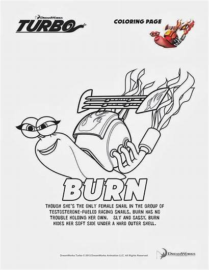 Coloring Turbo Pages Burn Printable Sheets Fast