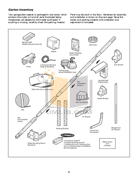 Chamberlain Garage Door Opener Whisper Drive Manual by Pdf Manual For Chamberlain Other Whisper Drive 459950