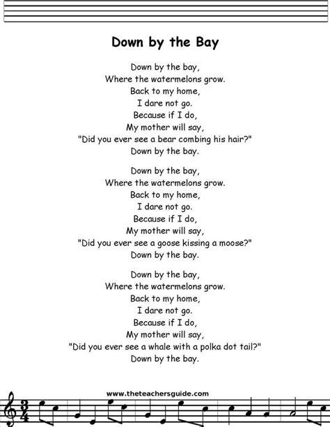 bay printout preschool preschool songs