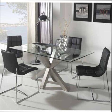 table bois table salle a manger bois plateau verre