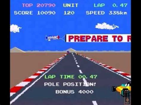 pole position canap pole position ii namco atari 1983