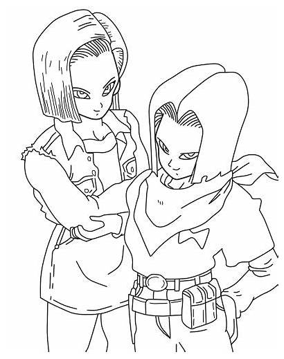Android Coloring Pages Un Super Dbz Colored