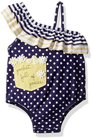 mud pie baby girls swimsuit  piece daisy   months