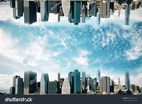Abstract Cityscape Wallpaper by Abstract Cityscape On Sky Stock Photo
