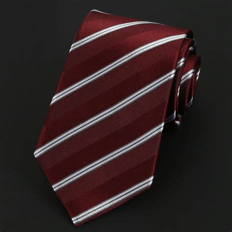 burgundy white stripes silk tie nz ties