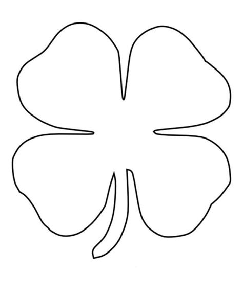 leaf clover coloring  kids coloring pages