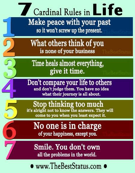 7 Cardinal Rules In Life By The Best Status  Gwen Owens