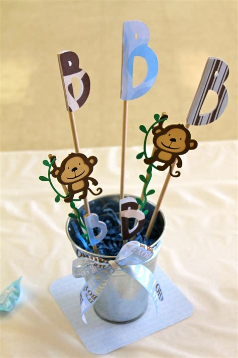 centerpieces for baby shower boy baby shower monkey boy centerpieces baby shower ideas pinterest