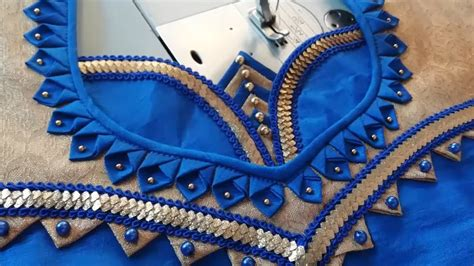 stitching   beautiful  neck design  blouse