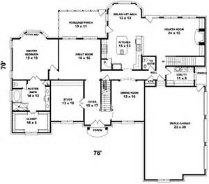 house plans for sloping lots southern colonial style house plans 4500 square foot