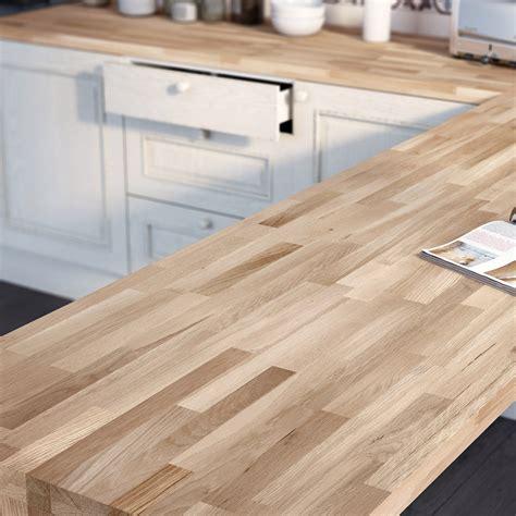 plan de travail cuisine chene plan de travail bois chêne brut mat l 250 x p 65 cm ep 38