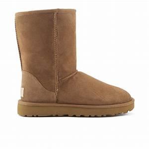 UGG Womens Classic Short II Sheepskin Boots Chestnut UK 3 ...