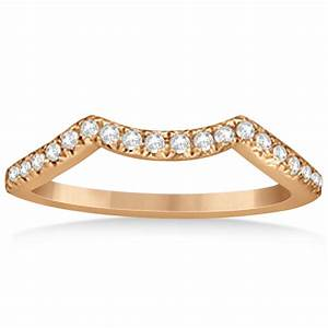 Contour Wedding Ring With Diamond Accents 14k Rose Gold 020ct