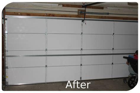 insulated 2 car garage door diy garage door insulation
