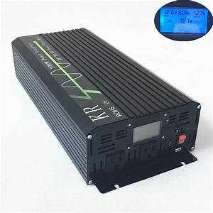 2000w Usb Car Power Inverter Pure Sine Wave 12v Dc To 120v Ac 60hz Lcd From Us