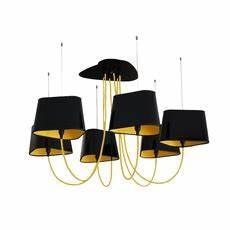 Abat Jour Nuage : lustre 6 petit nuage noir et jaune 94 cm designheure luminaires nedgis ~ Teatrodelosmanantiales.com Idées de Décoration