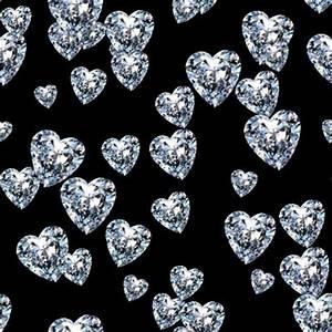 Diamond Background, Pink Diamond, Diamond Hearts Seamless ...
